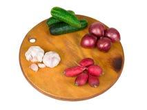 Warzywa na desce Obrazy Stock