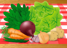 Warzywa na desce dla przygotowania naczynie Zdjęcia Royalty Free