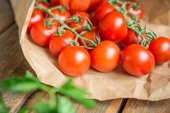 Warzywa na drewnianym tle Fotografia Stock
