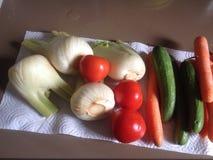 Warzywa na drzemanie papierze Zdjęcie Royalty Free