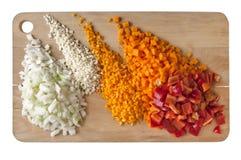 Warzywa na Tnącej desce zdjęcie stock
