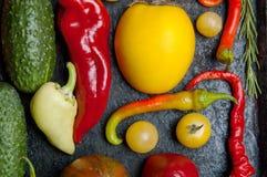 Warzywa na wypiekowej tacy Zdjęcia Royalty Free