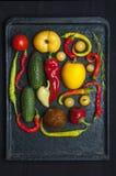 Warzywa na wypiekowej tacy Obraz Royalty Free