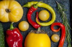 Warzywa na wypiekowej tacy Obrazy Stock