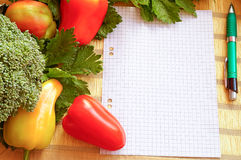 Warzywa naczynia przepis Fotografia Royalty Free