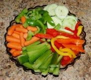 warzywa półmiska Zdjęcie Royalty Free