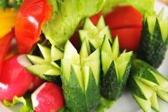 Warzywa, pięknie ciący dla uczty. Obraz Stock
