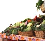 Warzywa przy rynkiem na białym tle Zdjęcie Stock
