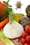 warzywa śródziemnomorski nafciany oliwny whit Obraz Royalty Free