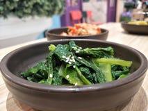 warzywa smażący z sezamowym olejem Obraz Royalty Free