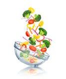 Warzywa spada w szklanego puchar Obrazy Stock