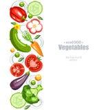 Warzywa tła vertical Fotografia Stock