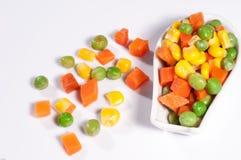 Warzywa trzy koloru Fotografia Royalty Free