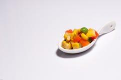 Warzywa trzy koloru Obrazy Royalty Free