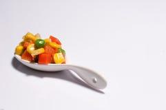 Warzywa trzy koloru Zdjęcia Royalty Free
