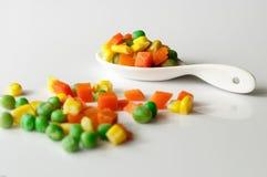 Warzywa trzy koloru Zdjęcia Stock
