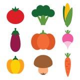Warzywa ustawiający Zdjęcia Royalty Free