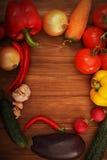 Warzywa ustawiający Obraz Royalty Free