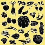 Warzywa ustawiający Ilustracja Wektor