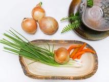 Warzywa ustawiający na bielu stole Obraz Stock