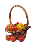 Warzywa w koszu Zdjęcie Stock