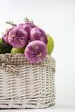 warzywa w koszu Zdjęcia Stock