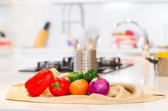 Warzywa w kuchni Zdjęcie Stock