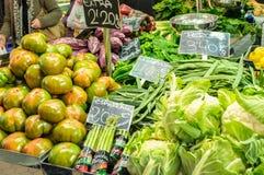 Warzywa w Środkowym rynku Walencja, Hiszpania Obrazy Royalty Free