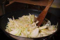 Warzywa w smaży niecce Fotografia Royalty Free