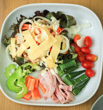 Warzywa w talerzowy withcheese zdjęcia royalty free