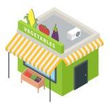 Warzywa wprowadzać na rynek ikonę, isometric styl Fotografia Stock