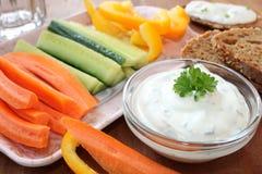 Warzywa z kwaśną śmietanką Obraz Stock