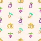 Warzywo bezszwowy wzór na brzoskwini colour tle ilustracji