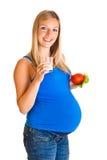 warzywo ciężarna kobieta zdjęcie stock
