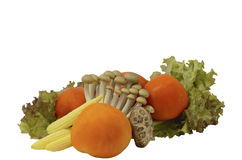 Warzywo dla sałatki z odosobnionym na bielu Obraz Stock