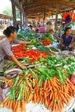 Warzywo kram w rynku Myanmar Zdjęcie Royalty Free
