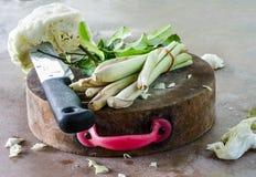 Warzywo na trencher Obraz Stock