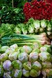 Warzywo odkłada w Carmel rynku Zdjęcia Stock