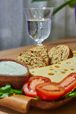 Warzywo sera chleb Obrazy Stock