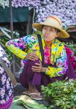 Warzywo sprzedawca w Myanmar Zdjęcia Royalty Free