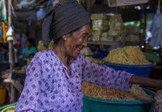 Warzywo sprzedawca w Myanmar Fotografia Stock