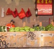 Warzywo stojak w Chinatown Zdjęcie Royalty Free