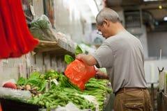 Warzywo stojak w Chinatown Zdjęcia Stock