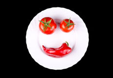 Warzywo uśmiech Obraz Stock