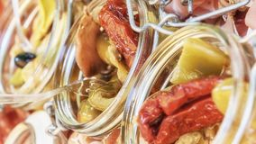 Warzywo w szklanym słoju zdjęcia stock