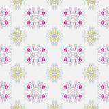 Warzywo wzór z wizerunkiem kwiaty różowi kwiaty na szarości tle i wapni Obrazy Stock