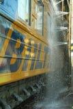 Was 4 van de trein Stock Foto