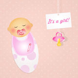 Was born a baby female. Illustration of was born a baby female royalty free illustration