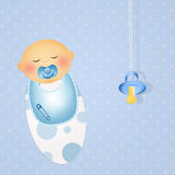 Was born a baby male. Illustration of was born a baby male stock illustration