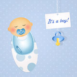 Was born a baby male. Illustration of was born a baby male vector illustration